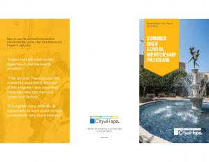 Summer School Brochure