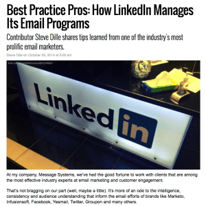 Message Systems MarketingLand column – LinkedIn