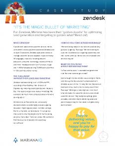 Mariana Case Study Zendesk