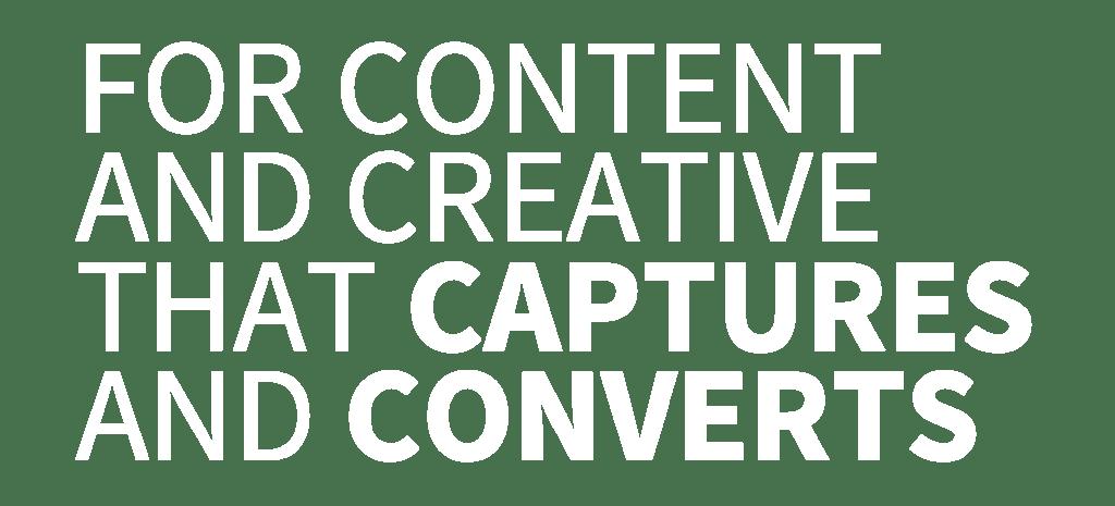 CONTENT & CREATIVE SERVICES