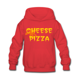 Cheese Pizza kids hoodie by Michael Shirley