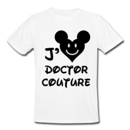 J'adore Doctor Couture mens tee by Michael Shirley