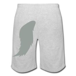 Werewolf (gray) mens shorts by Michael Shirley