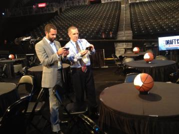 Tom Housenick and I at the 2013 NBA Draft