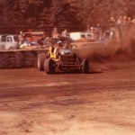 old cutdown retrofitted for dirt racing - 1971