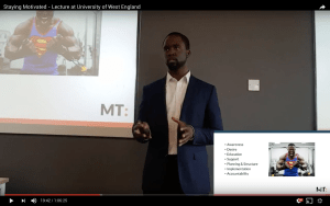 Staying Motivated – Lecture at University of West England