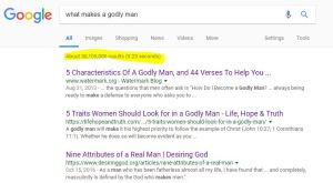 Google results of a christian search