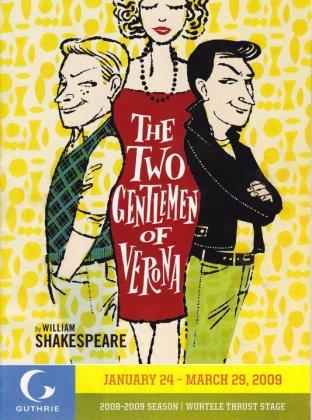 Playbill 'Two Gentlemen of Verona,' Guthrie Theater, Minneapolis, 2009.
