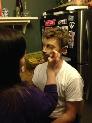 Early morning call-time for make-up/transformation with Renee Chizek.
