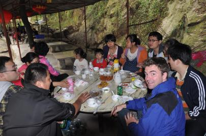 Vacationing in the mountains outside Boshan, Shandong, China, during National Week.
