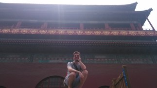 In front of the Drum Tower in Beijing