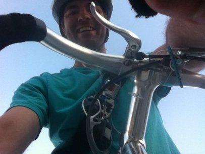 Biking in Minneapolis, MN, USA.