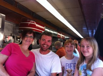 Mickey's with Amy and the girls. St. Paul, MN, USA.