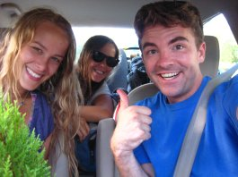 Two hitchhikers I picked-up somewhere in Wisconsin on my return from the Capital Fringe Festival.