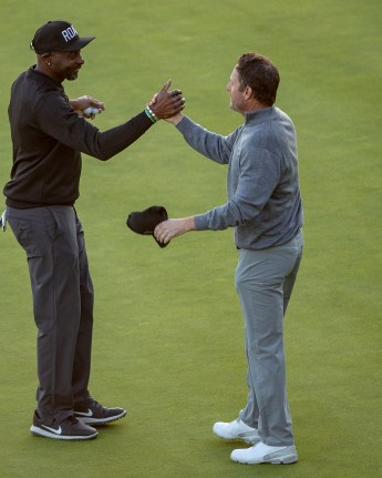 Chris Harrison, Jerry Rice Celeb Cup 2019-1