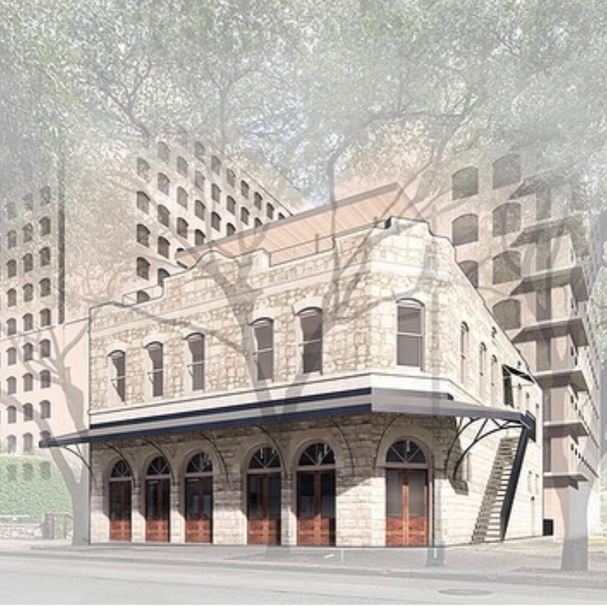 Built in 1896, the Randerson-Lundell building on E. 6th is being repurposed into a Class A corporate office space by Michael-Wes & Co. Design by @chioco_design