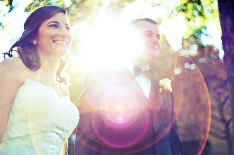 awesome bridal lens flare