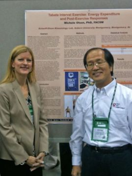 Michele Olson, PhD pictured with Dr. Izumi Tabata