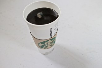 hastily, I've ordered a cup of cofee at the starbucks on the moon, 2015, epoxy resin, starbucks' cup