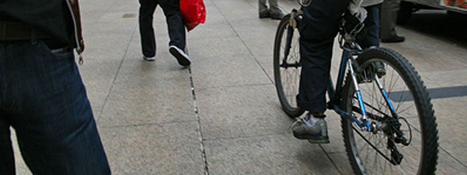 Rowerzyści, SIO z chodników!