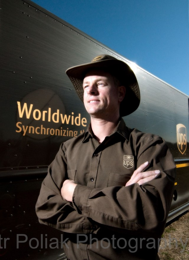 UPS portrait –first job in the US