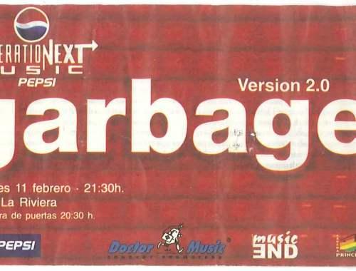 Entrada del concierto del grupo de Shirley Manson en Madrid Garbage