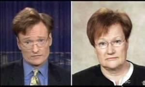 Conan O'Brien ja Tarja Halonen