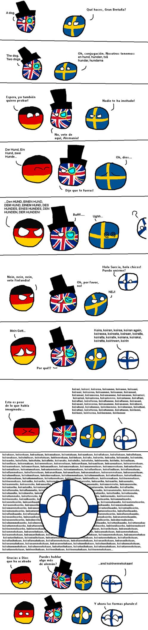 Finlandball Conjugación