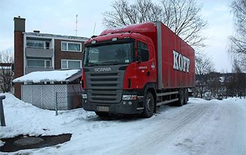 Camión de Koff en Finlandia