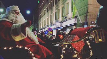 Papá Noel en la inauguración de la Navidad