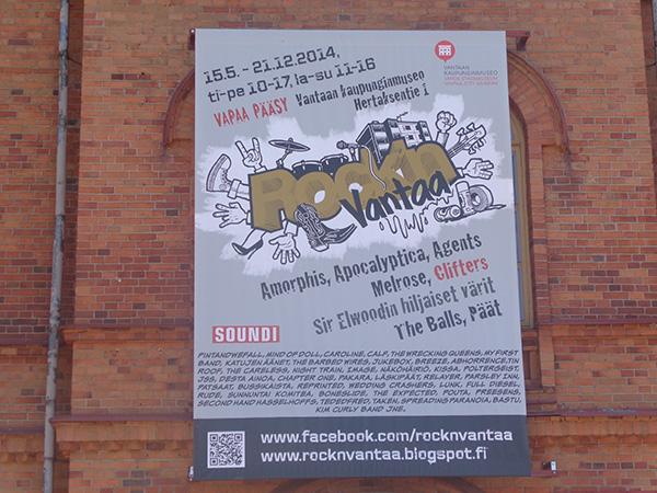 Cartel de un festival de rock en Vantaa
