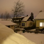 Finlandia Nieve noche