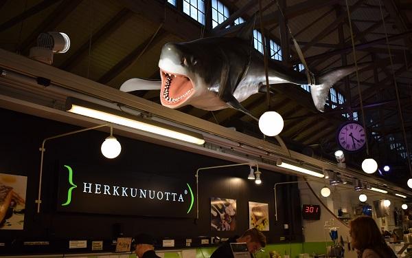Tiburón mercado cubierto Turku