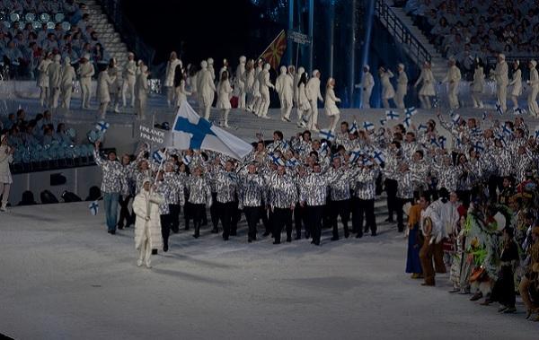 ceremonia apertura Finlandia Vancouver 2010
