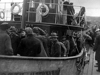 rojos barco Guerra Civil finlandesa