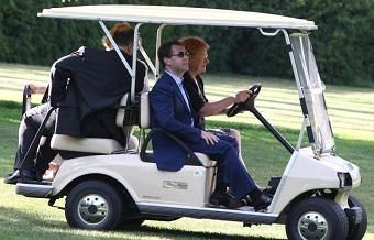 Tarja Halonen carrito golf