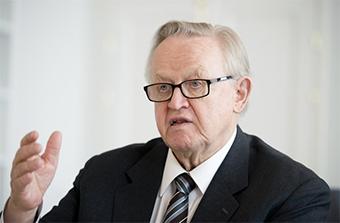 Martti Ahtisaari Nobel Paz
