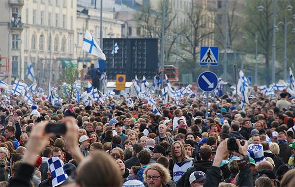 Finlandia celebración Mundial hockey