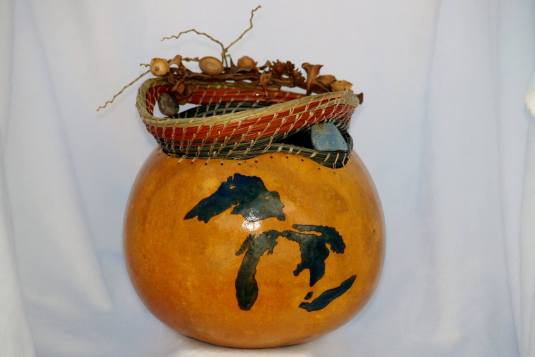 Creations From The Ground Up – Designed Gourds, and Pine-needle Baskets