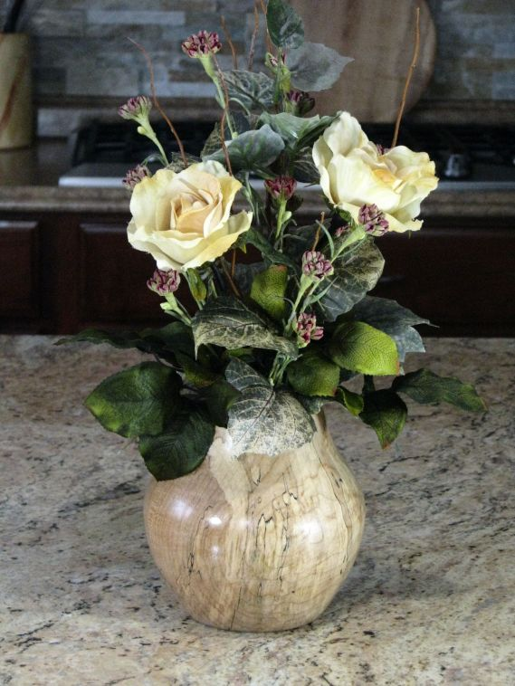 Hidden in Bark -1 Floral in maple vase