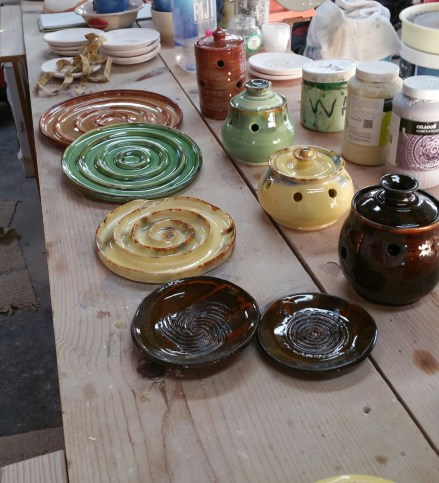 James & Bella Lassak/JL Vision – Functional Ceramics, Olive Dishes, Textured Plates, Garlic Keepers