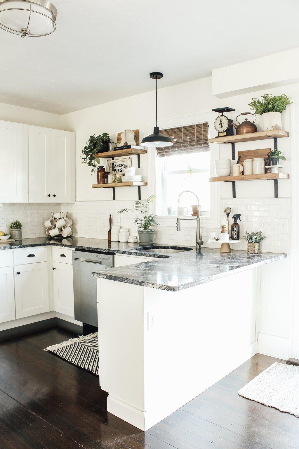 Modern Farmhouse Kitchen Makeover Reveal - Micheala Diane ... on Farmhouse Kitchen Ideas  id=99167