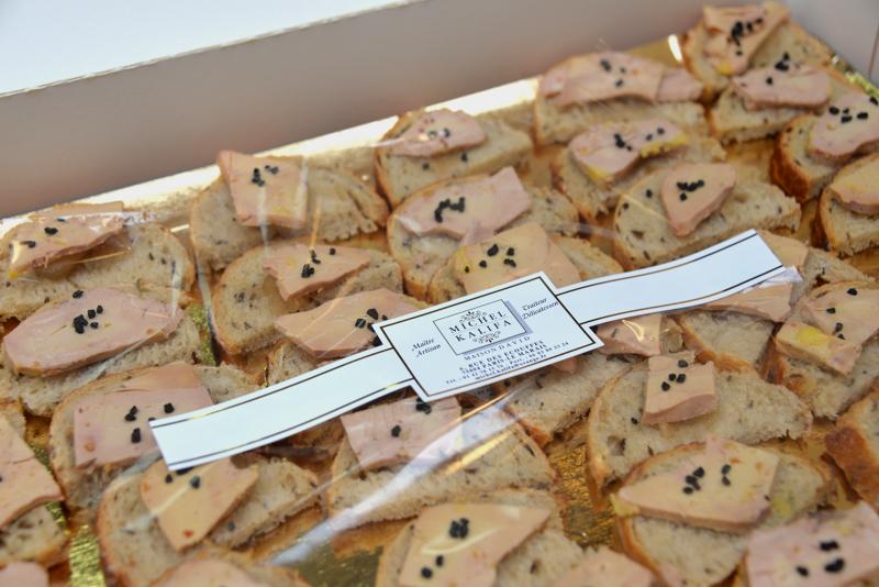 Présentation traiteur de foie gras, Michel Kalifa - Maison David, Samuel Bloch ©