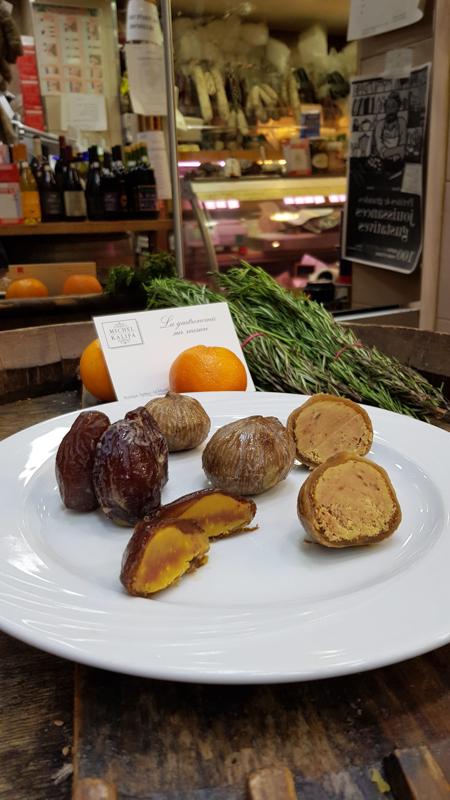 Figues de Solliès et dattes medjool au foie gras - Maison David - Michel Kalifa
