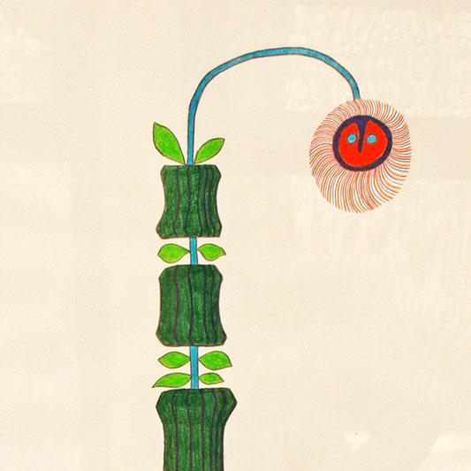 Michel Rossigneux Botanique 15 - détail. Dessin sur papier