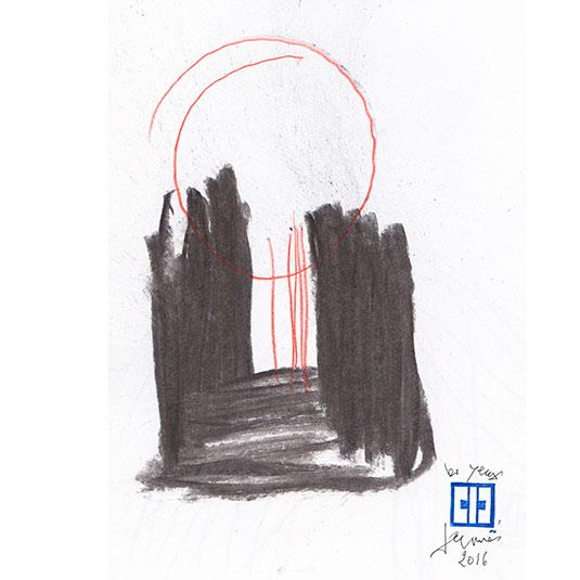 Michel Rossigneux - Les yeux fermés - dessin n°10