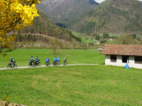 e bike tour in Ledro Valley