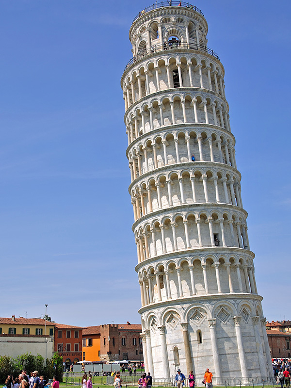 The famous Pisa Leaning Tower