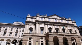 Extirior view of the Teatro alla Scala in Milan