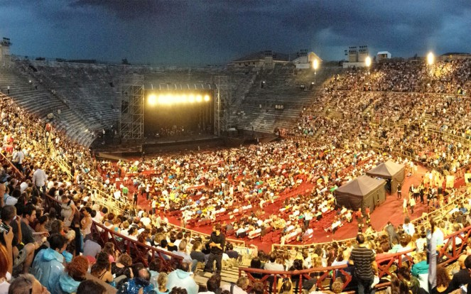 Interior view of the Arena di Verona